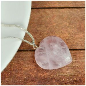 Rose Quartz Heart Shape Pendant - Size 25-30 mm approx