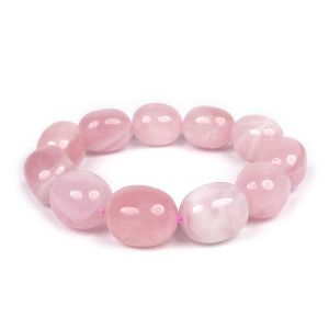 Rose Quartz Crystal Stone Bracelet for Reiki Healing & Crystal Healing