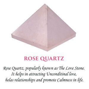Rose Quartz Pyramid for Reiki Healing / Grid and Vastu Correction