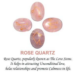 Rose Quartz Arch Angel Sets 4 pcs