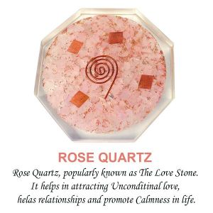 Rose Quartz Coaster Orgonite Coaster