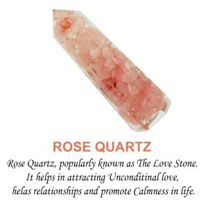 Rose Quartz Orgone Pencils 8 cm
