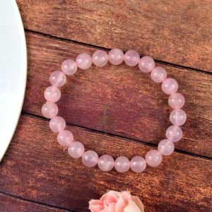 Rose Quartz 8 mm Round Bead Bracelet