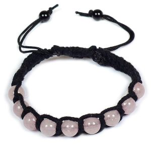 Rose Quartz Bracelet 8mm Beads Thread Bracelet