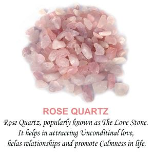 Rose Quartz Crystal / Stone Chips