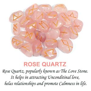 Rose Quartz Rune Set 25 Pc