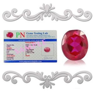 Natural High Grade Ruby Manik Certified Gemstone