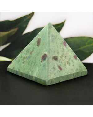 Ruby Fuchsite Pyramid for Reiki Healing / Grid and Vastu Correction