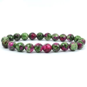 Ruby Zeosite 8 mm Faceted Bracelet