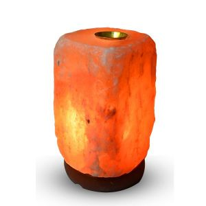 Himalayan Rock Salt Lamp Fragrance Oil Burner/Aroma Lamp/Brass Oil Burners for Positive Energy
