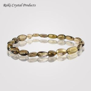 Smoky Quartz Oval Bead Bracelet