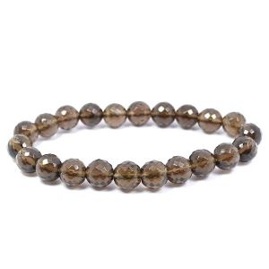 Smoky Quartz 8 mm Faceted Bracelet