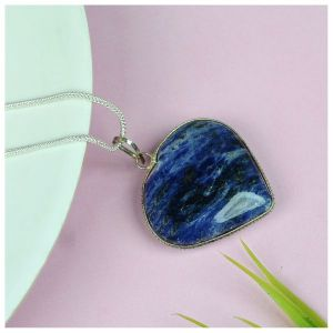 Sodalite Heart Shape Pendant - Size 30-35 mm approx