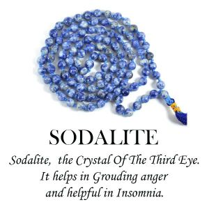 Sodalite 6 mm Round Beads Mala & Necklace ( 108 Beads, 26 Inch  Approx)