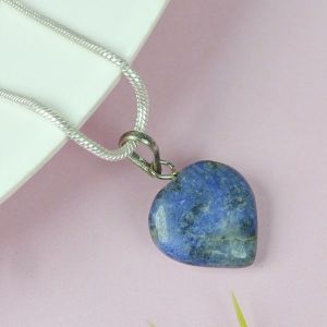 Natural Sodalite Heart  Pendant