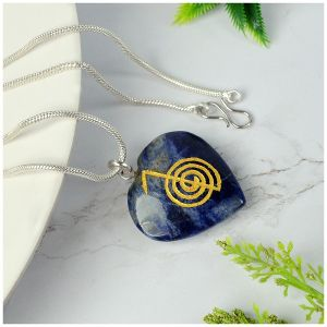 Sodalite  Heart shaped cho ku rei Pendant