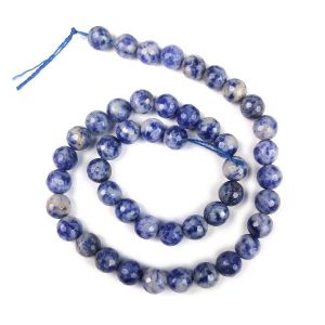 Sodalite Brown Diamond Cut 8 mm Crystal Stone Loose Beads