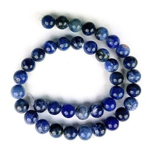 Sodalite 10 mm Round Loose Beads for Jewelery Making Bracelet, Necklace / Mala