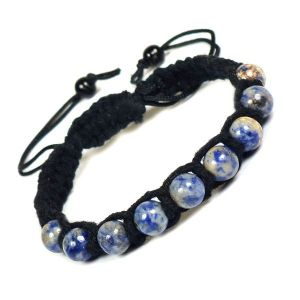 Sodalite 8 mm Bead Thread Bracelet