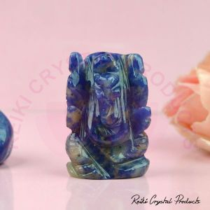 Natural Sodalite Crystal Stone Ganesha Idol