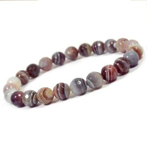 Sulemani Hakik / Botswana Agate High Grade 8 mm Faceted Bracelet