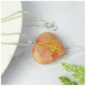 Sunstone Heart shaped cho ku rei Pendant