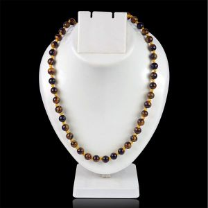 Tiger Eye  8 mm Round Bead Mala & Necklace (108 Beads & 32 Inch Approx)