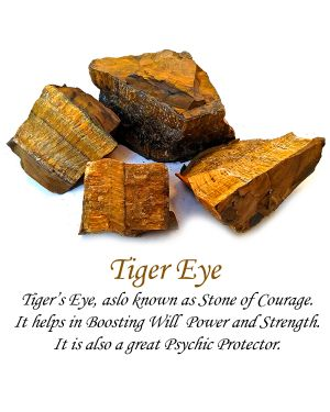 Tiger Eye Stone Orgone & Orgonite Pyramid