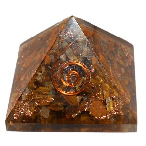 Tiger Eye Orgone Pyramid