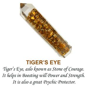 Tiger Eye Orgone Jumbo Pencil