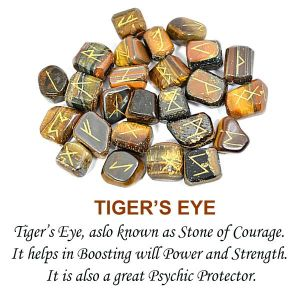 Tiger Eye Rune Set 25 Pc