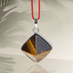 Tiger Eye Pyramid Shape Pendant