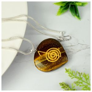 Tiger Eye Heart shaped cho ku rei Pendant