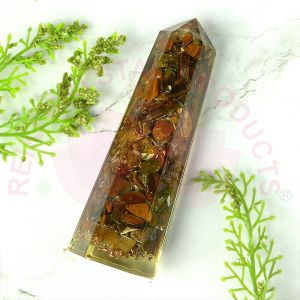 Tiger Eye Orgone Pencil 8 cm