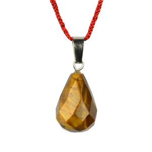 Tiger Eye Pendant Guava Shape Pendant for Reiki Healing and Crystal Healing Stone Pendant (Color : Brown)