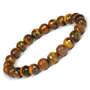 Tiger Eye 8 mm Faceted Bracelet