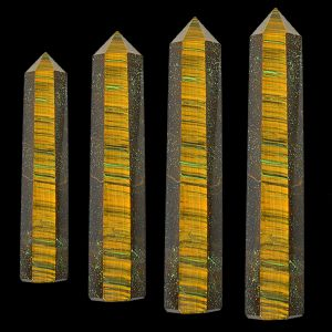 Tiger Eye Crystal Pencil / Obelisks