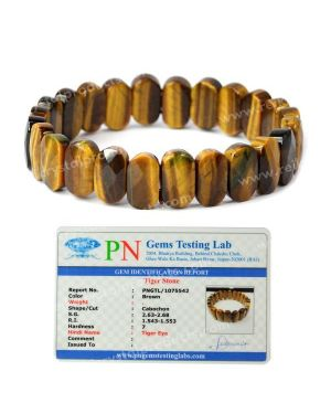 Certified Natural Tiger Eye Exotic Bracelet with Certificate