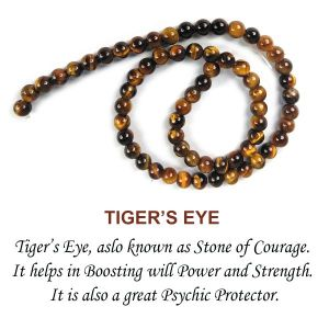 Tiger Eye Loose Beads Crystal Beads 6 mm Beads Round Stone Beads