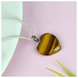 Tiger Eye Heart Shape Pendant - Size 15-20 mm approx