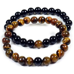 Combo  Tiger Eye with Onyx Bracelet