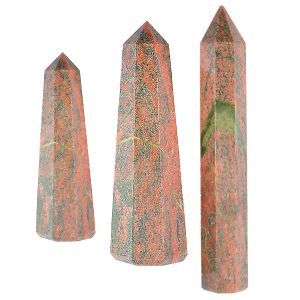 Unakite Crystal Pencil / Obelisks