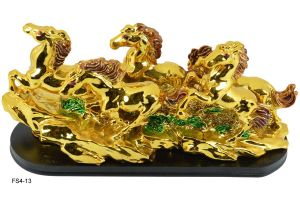 Five Golden Running Horses, Victory Horses for Feng Shui and Vastu
