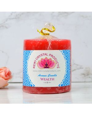 Energized Pillar Candle for Wealth Purpose