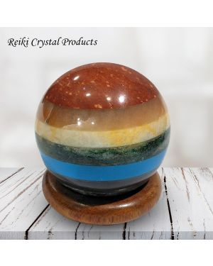 7 Chakra Bonded Ball / Sphere for Reiki Healing / Grid and Vastu Correction