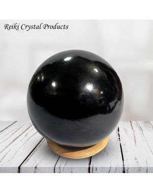 Black Tourmaline Ball / Sphere for Reiki Healing / Grid and Vastu Correction