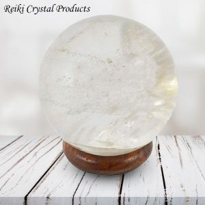 Clear Quartz Ball / Sphere for Reiki Healing / Grid and Vastu Correction