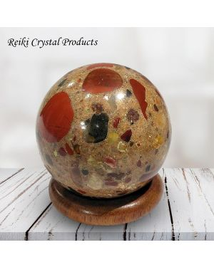 Fancy Jasper Ball / Sphere for Reiki Healing / Grid and Vastu Correction
