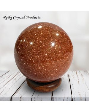 Goldstone Brown Ball / Sphere for Reiki Healing / Grid and Vastu Correction