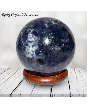 Iolite Ball / Sphere Ball / Sphere for Reiki Healing / Grid and Vastu Correction